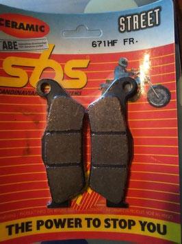 SBS– Bremsbeläge 671 HF FR