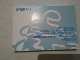 Yamaha YFM 350 S Banshee – originale Bedienungsanleitung