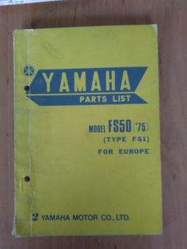 Yamaha FS 50 ('75) Type: FS1 - Parts-List