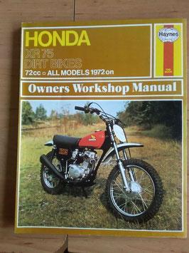 Honda XR 75 - Dirt Bikes - Werkstatt- Handbuch