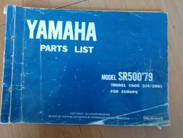 Yamaha SR 500 ('79) - Type: 2J4/3H0 - Parts-List