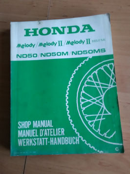 Honda ND 50 /M /MS - Werkstatt-Handbuch