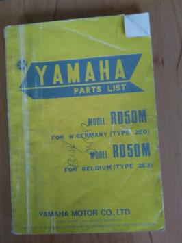 Yamaha RD 50 M Type: 2E0 - Parts-List