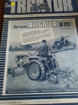 Der Traktor - Der neue Allgaier A 111 - Zeitschrift