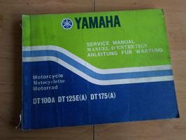 Yamaha DT 100 A/ DT 125 A/ DT 175 A- Wartungsanleitung