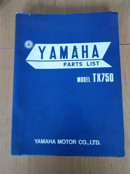 Yamaha TX 750 - Parts-List