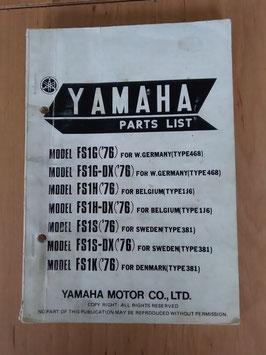 Yamaha FS 1 ('77) Type: 468 - Parts-List