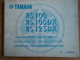 Yamaha RS 100-125 DX- Ergänzumg zur Wartungsanleitung