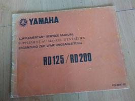 Yamaha RD 125/200 - Ergänzung zur Wartungsanleitung