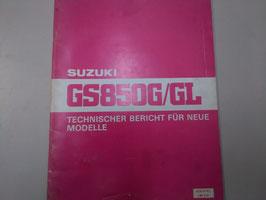 Suzuki GS 850 G/GL - Technischer Bericht für neue Modelle im Paket