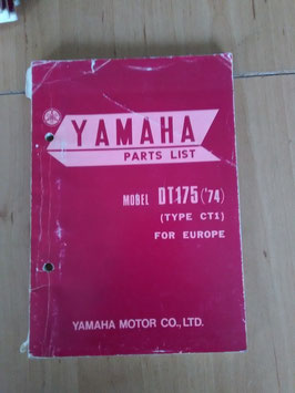 Yamaha DT 175 ('74) Type: CT1 - Parts-List