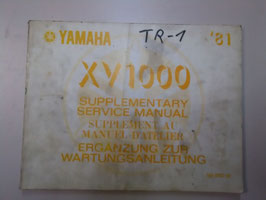 Yamaha XV 1000 - originale Ergänzung zur  Wartungsanleitung