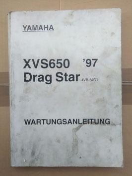 XVS 650 Darg Star (4VR-MG1) -Wartungsanleitung
