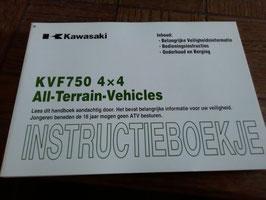 Kawasaki KVF 750 4X4   - Betriebsanleitung