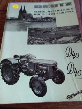 Deutz- Diesel- Schlepper D 40/D 40 S