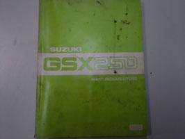 Suzuki GSX 250 - Wartungsanleitung