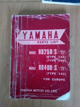 Yamaha RD 250 S ('77) Type: 1A2/1N9 / RD 400 S ('77) Type: 1A3 - Parts-List