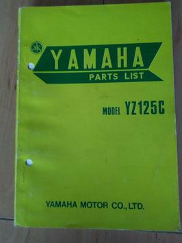Yamaha YZ 125 C - Parts-List