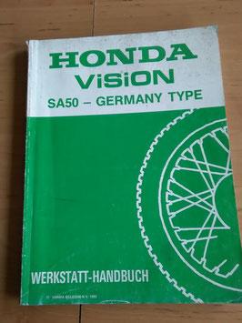 Honda Vision SA 50- Germany Type - Werkstatt- Handbuch