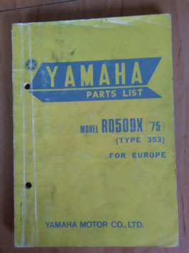 Yamaha RD 50 DX ('75) Type: 353 - Parts-List