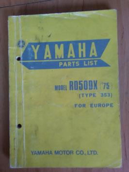 Yamaha RD 50 DX ('75) Type: 353 - Parts-List