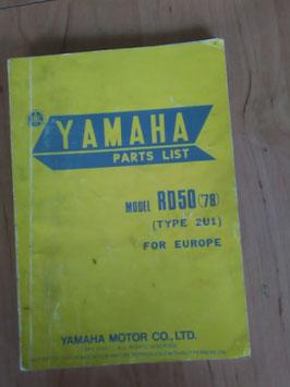 Yamaha RD 50 ('78) Type: 2U1 - Parts-List
