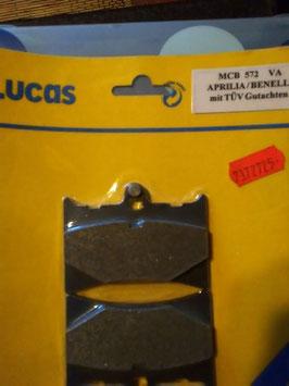 Lucas – Bremsbeläge MCB 572 VA