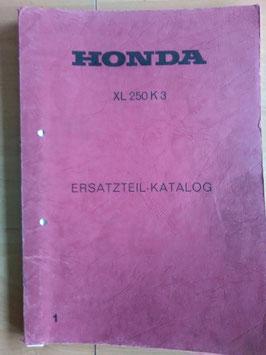 Honda XL 250 K3 - Ersatzteile-Katalog