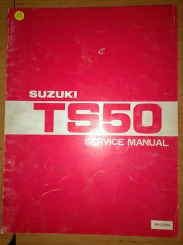 Suzuki TS 50 - originales Werkstatt- Handbuch