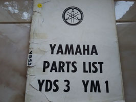 Yamaha YDS3/YM1 - Originale Part List
