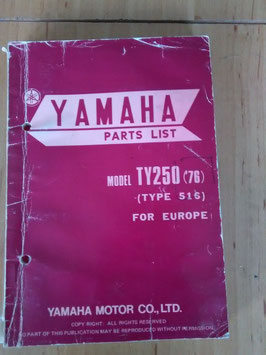 Yamaha TY 250 ('76) Type: 516 - Parts-List