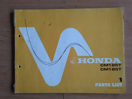 Honda CM 125 T/ 185 T - Parts- List