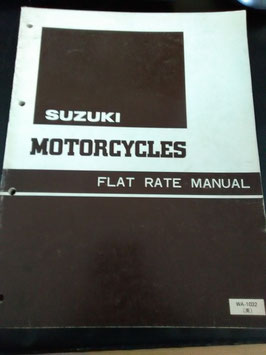 Suzuki Motorcycles Flat Rate Manual