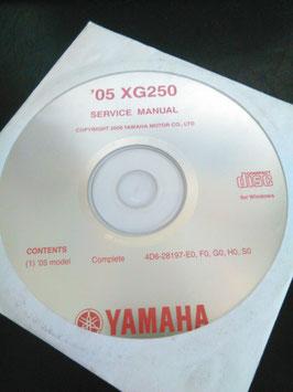 Yamaha Werkstatthandbücher auf CD (original) - 250 ccm