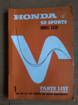 Honda SS 50  Sport- Rarität - Parts List