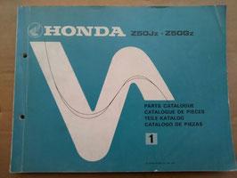 Honda Oldtimer Teile- Katalog - Z 50 Jz / Z 50 Gz
