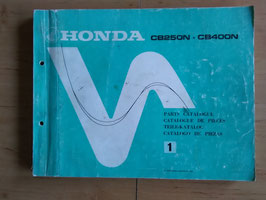 Honda CB 250 N/400 N  - Parts- List