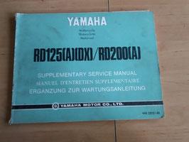 Yamaha RD125 (A/DX) / RD200 (A) - Ergänzung zur Wartungsanleitung