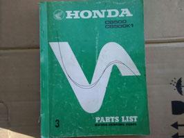 Honda CB 500 / CB 500 K1  -  Oldtimer Parts-List