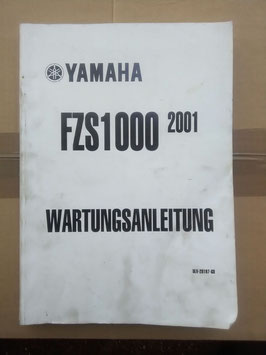 FZS 1000 Bj 2001 -Wartungsanleitung
