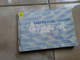 Honda CB 750 F  – Fahrerhandbuch