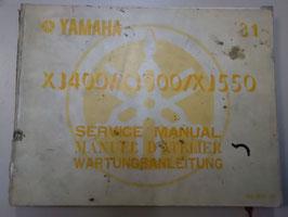 Yamaha XJ 400/ 500 / 550 - originale Wartungsanleitung