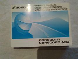 Honda CBR 600RR / ABS – originales Fahrer-Handbuch