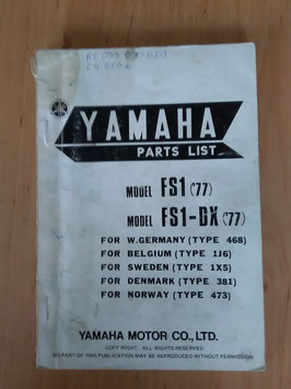 Yamaha FS 1G ('76) Type: 468 - Parts-List