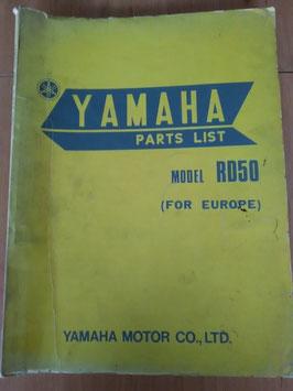 Yamaha RD 50 - Parts-List