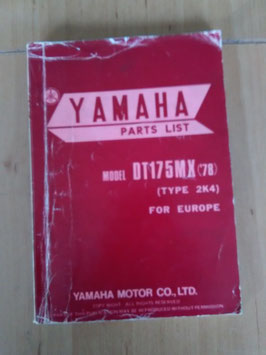 Yamaha DT 175 MX ('78) Type: 2K4 - Parts-List