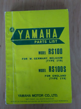 Yamaha RS 100 Type: 1Y8 - Parts-List