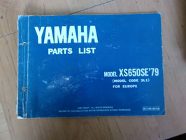 Yamaha XS 650 SE ('79) - Type: 3L1 - Parts-List