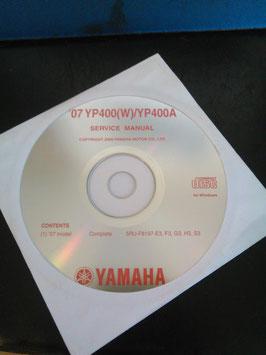 Werkstatthandbücher auf CD (original) -' 07  YP 400