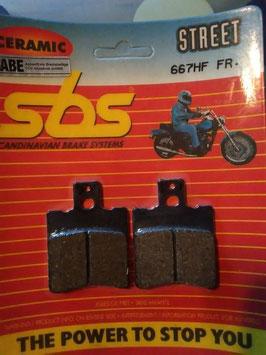 SBS– Bremsbeläge  667 HF FR